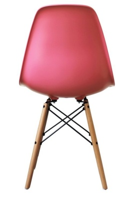 Eames Inspired Childrens Dsw Chair In Pink Rear View
