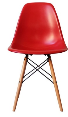 Eames Inspired Dsw Childs Chair In Red Front View