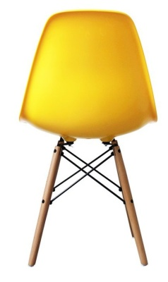 Eames Inspired Childs Dsw Chair With A Yellow Seat Rear View