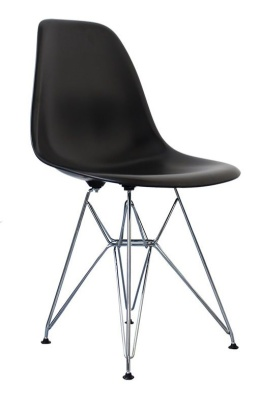 BEames Inspired DSR Childs Chair In Black Front Angle