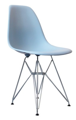 Childs Dsr Chair In Blue Front Angle