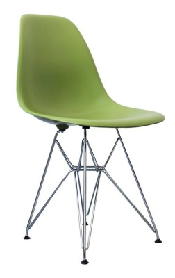 Meames Inspired Childs Dsw Chair In Green Front Angle