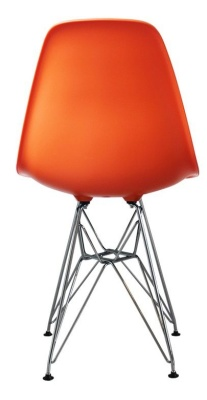 Eames Inspired DSR Childs Chair In Orange Rear View