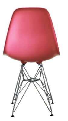 Eames Inspired Dsr Childs Chair In Pink Rear View