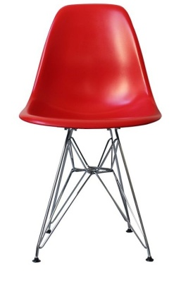 Eames Inspired Dsr Childs Chair In Red Front View
