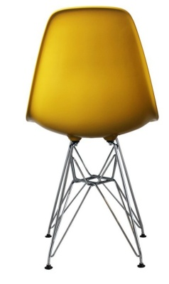 Eames Inspired Dsr Childs Chair In Yellow Rear View
