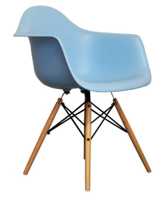 Eames Inspired DAW Chailds Chair In Blue A Ngle Shot