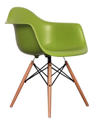 Eames Inspired DAW Childs Chair In Green Angle View