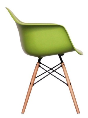 Eames Inmspired DAW Chair In Green Side View