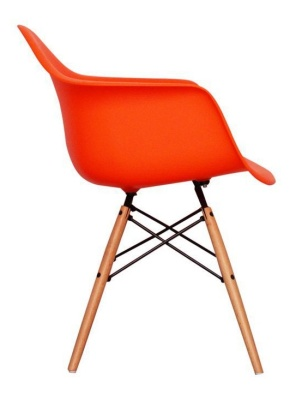 Eames Inspired DAW Childs Chair On Orange Side View