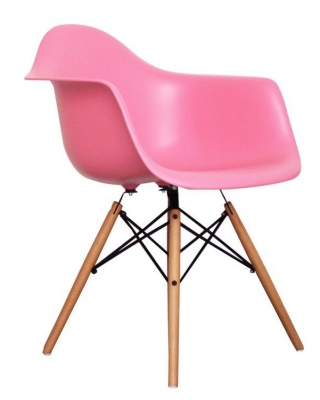 Eames Inspired Childs DAW Chair In Pink Angle View