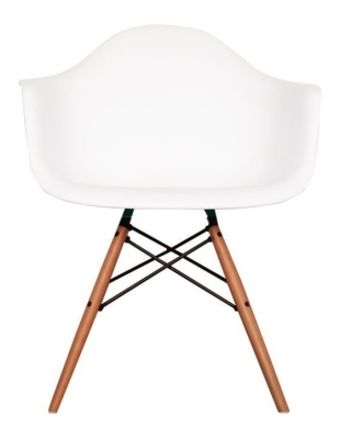 Eames Inspired Childs DAW Chair In White Front View