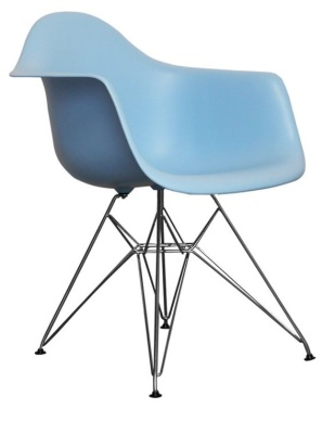 Eames Inspired Childs Dar Chair In Blue Angle Shot