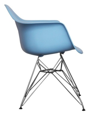 Eames Inspired DAR Junior Chair In Blue Side View