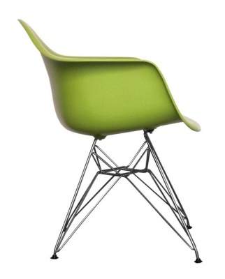 Eames Inspired DAR Chair In Green Side View