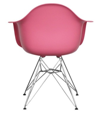 Eames Inpired DAR Childs Chair In Pink Trear View