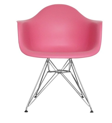 Eames Inspired Junior DAR Chair In Pink Front View