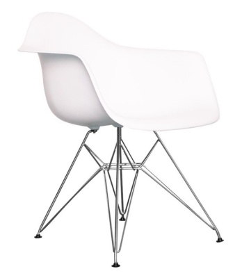 Eames Inapired White DAR Junior Chair In White Angle Shot