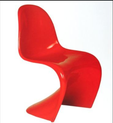 Chilrens Panton Chair In Red
