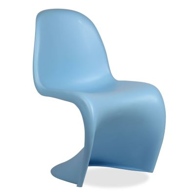 Childrens Panton Chair In Blue Angle View