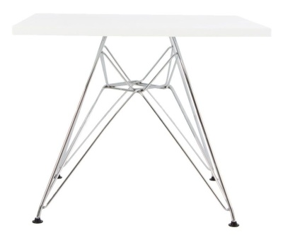 Eames Junior Dsr Square Table Wit A White Top
