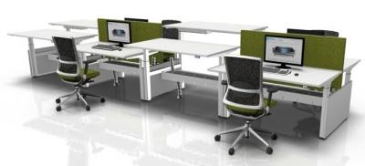 Eight Person Sit Stand Desks 2