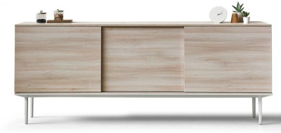 Longi Credenza With Drawers In Lime Oak