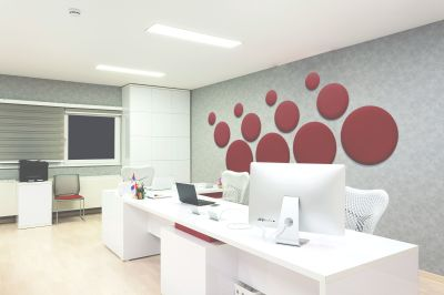 Tansad Circles Acoustic Tiles Installation Shot