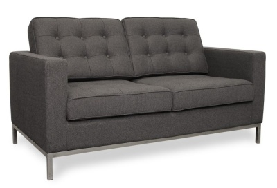 Florence Knolll Two Setare Sofa In Grey Cashmere
