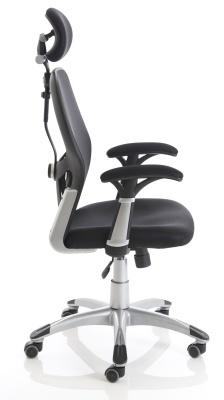 Ergo Tron Mesh Task Chair Side View