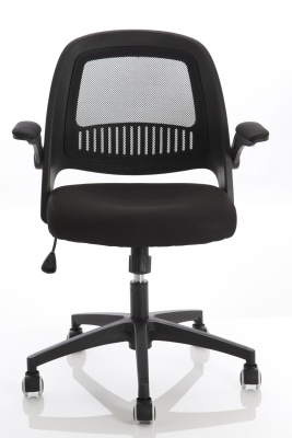 Contect Mesh Chair With A Black Mesh Back Front Face