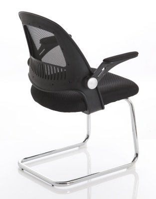 Context Mesh Cantilever Chair Rear Angle