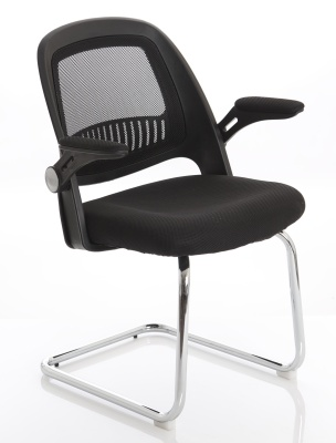 Context Mesh Cantilver Chair Front Angle