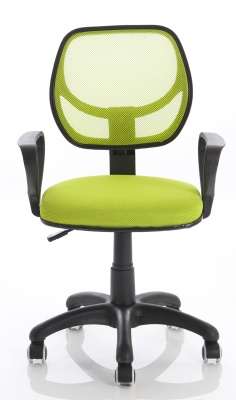 Turin Mesh Chair In Green Front Shot
