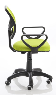 Turin Mesh Chair In Green Side View