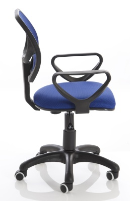 Turin Mesh Chair In Blue Side View