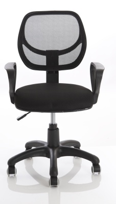 Turin Mesh Chair In Black Front View
