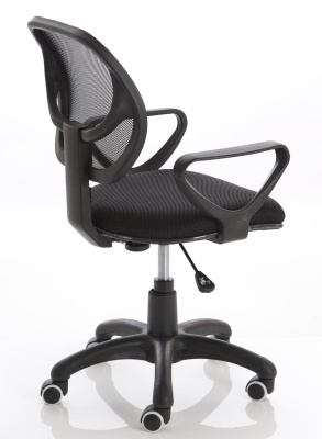 Turin Mesh Chair In Black Rear Angle