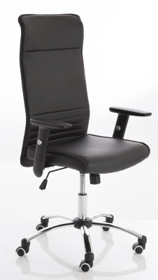 Turino Black Leather Task Chair