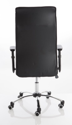 Turino Black Leather Executive Chair Rear View