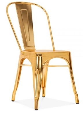 Xavier Pauchard Tollix Chair In Gold Front Angle View
