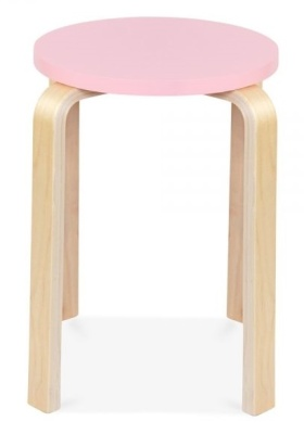 Chill Plywood Stool Pink Seat