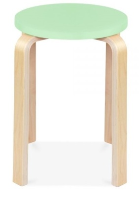 Chill Wooxden Stool With A Lime Green Seat