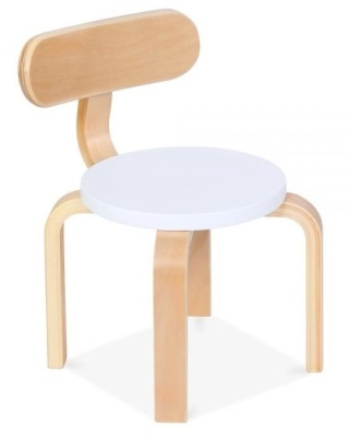 Chill Childrens Plywood Chair With A White Seat