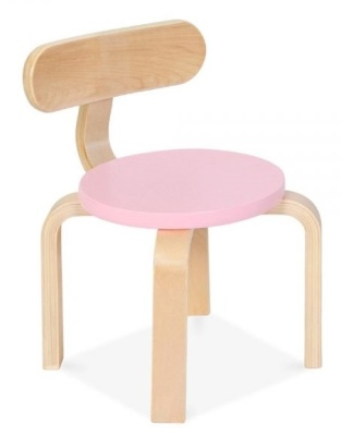 Chill Childrens Chair With A Pink Seat