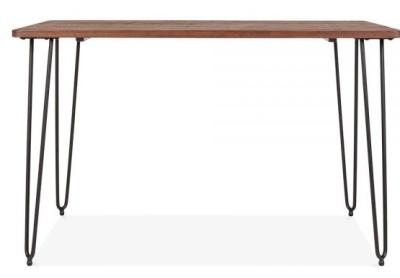 Hairpin Rectangular Table Black Frame 2
