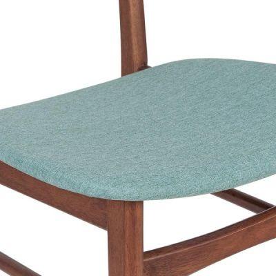 Ontario Dinin Chair Teal Fabric Detail Shot