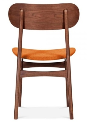 Ontario Dining Chair With An Orangeabric Seat Rear View