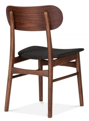 Ontario Dinming Chair With A Dark Grey Seat Rear Angle