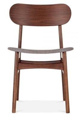 Ontario Dining Chair With A Light Grey Seat Front View